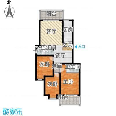 宏华花苑117.13㎡C栋面积11713m户型