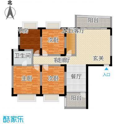天泽大厦141.68㎡F型1面积14168m户型