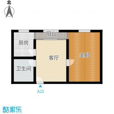 东方公寓52.00㎡面积5200m户型