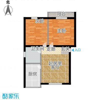 景芳东区65.00㎡面积6500m户型