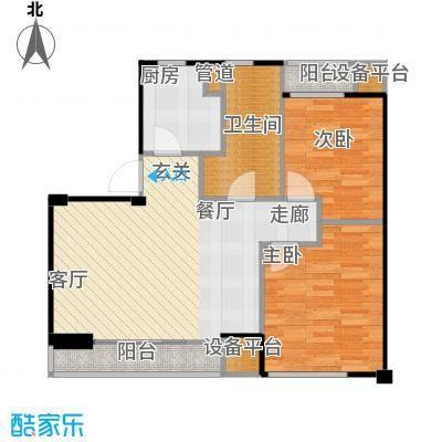 蔚蓝公寓89.00㎡绿城面积8900m户型