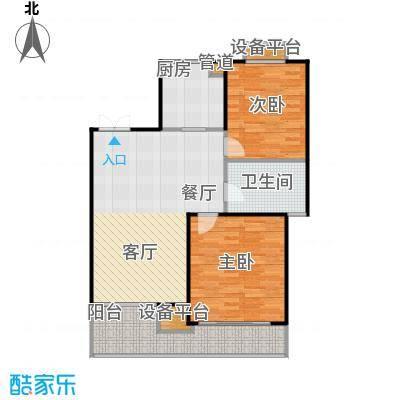 蔚蓝公寓90.00㎡面积9000m户型