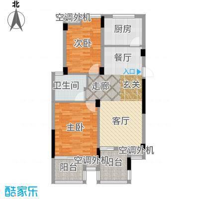 元都新景公寓88.00㎡17、18幢1单面积8800m户型