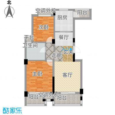 元都新景公寓88.00㎡1幢D1面积8800m户型