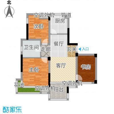 元都新景公寓100.00㎡5幢2单元户面积10000m户型