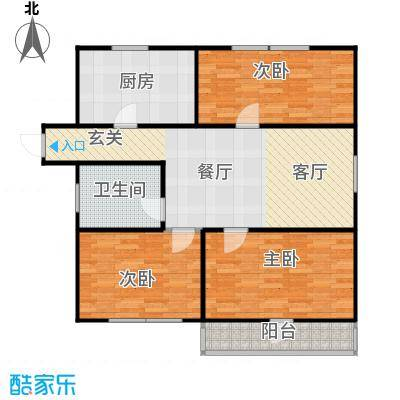 丹桂公寓96.00㎡面积9600m户型