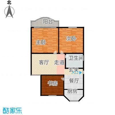丹桂公寓110.00㎡面积11000m户型