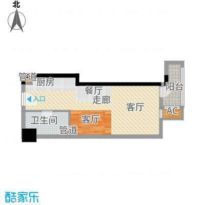 佳润新城45.00㎡面积4500m户型