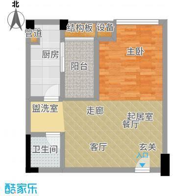 新青年公寓73.26㎡面积7326m户型
