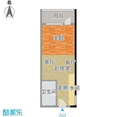 新青年公寓69.00㎡面积6900m户型