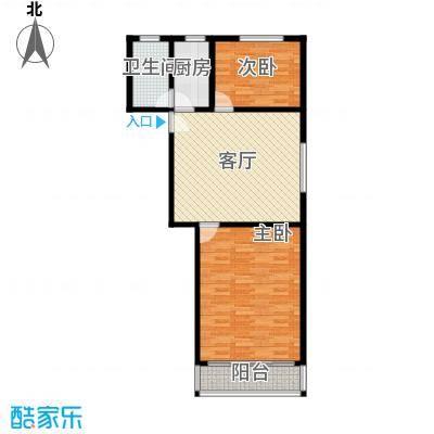 三塘南村75.00㎡面积7500m户型