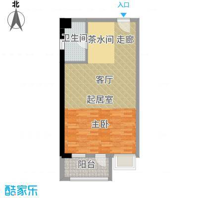 新青年公寓54.00㎡面积5400m户型