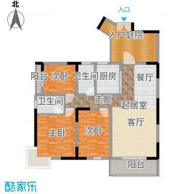 汇城上筑138.73㎡二期3、4栋B面积13873m户型