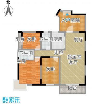 汇城上筑136.38㎡二期1、2栋B面积13638m户型