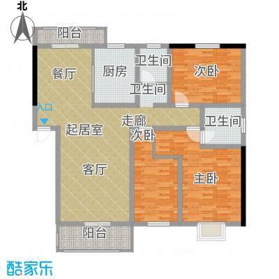 汇城上筑126.09㎡8#D-标准层-A2-面积12609m户型