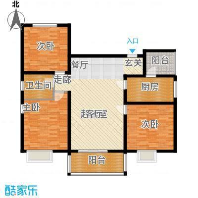 滨江美寓123.38㎡1-14-1面积12338m户型