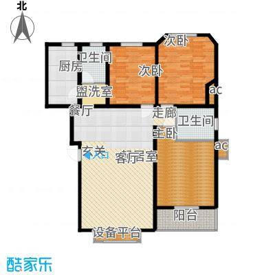 滨江美寓122.21㎡2-33-3面积12221m户型