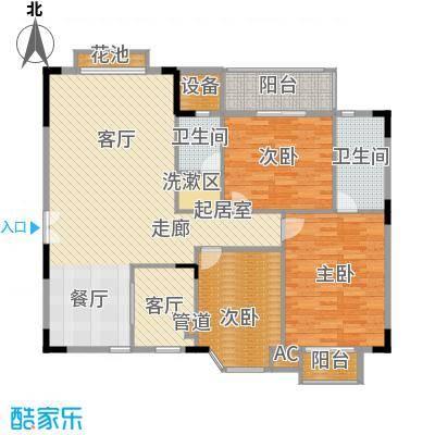 香海西岸119.84㎡A2面积11984m户型