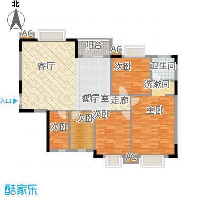 香海西岸122.30㎡面积12230m户型