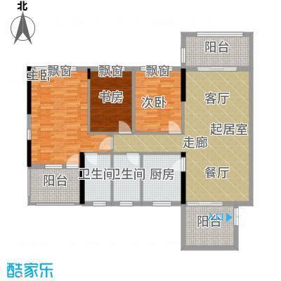 政华嘉园123.00㎡面积12300m户型