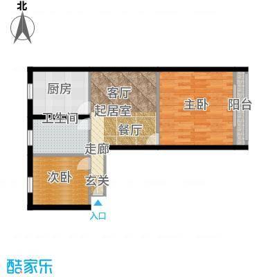景芳东区54.00㎡面积5400m户型