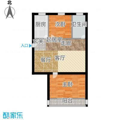 景芳东区58.00㎡面积5800m户型