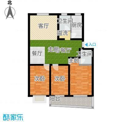 好家园经济适用房104.37㎡6面积10437m户型