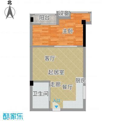 雍晟时代公馆52.16㎡1栋1面积5216m户型