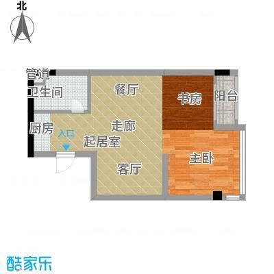 雍晟时代公馆44.68㎡1栋2面积4468m户型