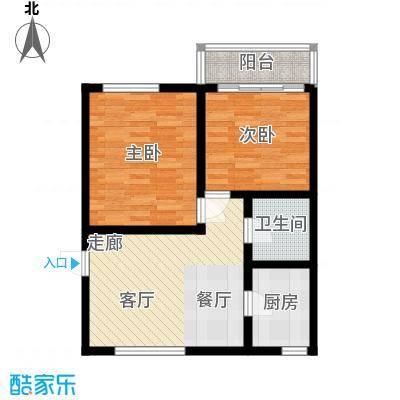 采荷青荷苑65.00㎡2面积6500m户型