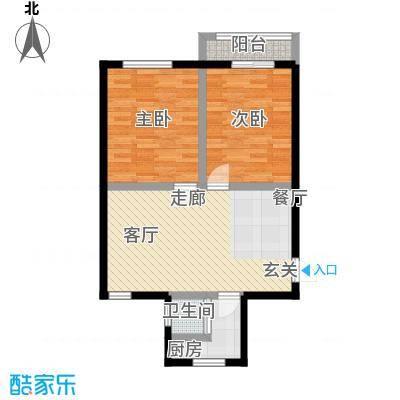 六塘公寓64.00㎡面积6400m户型
