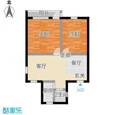 六塘公寓65.00㎡面积6500m户型