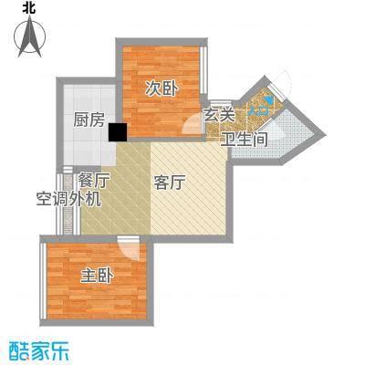 东方摩卡69.88㎡8-31层042面积6988m户型