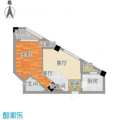 东方摩卡58.88㎡3-7层06面积5888m户型