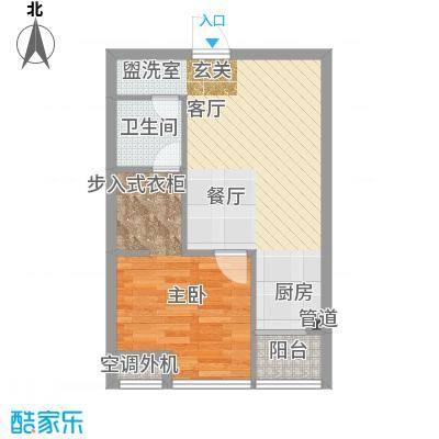 东方摩卡59.37㎡3-7层12面积5937m户型