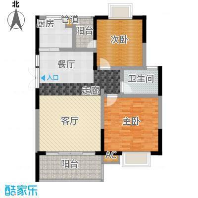 德泽苑92.59㎡12栋、15栋、1栋、5栋户面积9259m户型