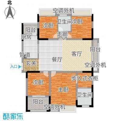君庭金福苑153.00㎡面积15300m户型