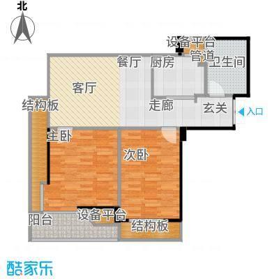 蔚蓝公寓89.00㎡面积8900m户型