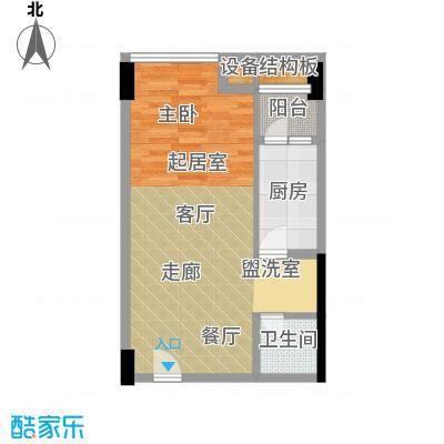 新青年公寓68.65㎡面积6865m户型