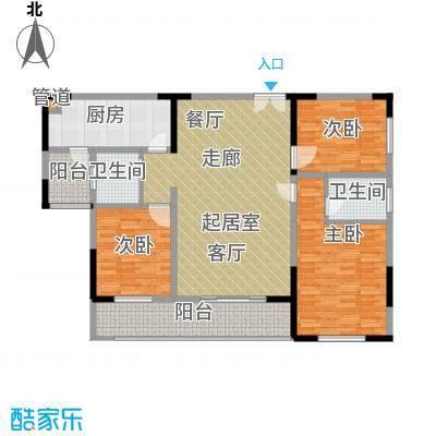 汇城上筑121.15㎡二期5栋B3面积12115m户型