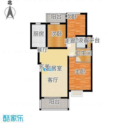 滨江美寓122.21㎡1-34-3面积12221m户型