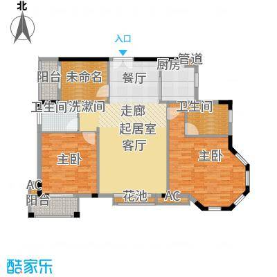 香海西岸109.97㎡C3面积10997m户型