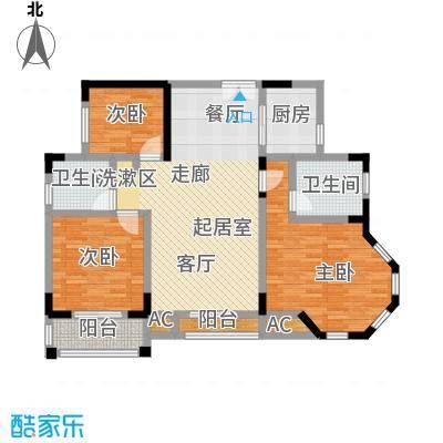 香海西岸111.50㎡面积11150m户型