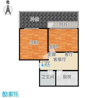 中江花园84.00㎡面积8400m户型
