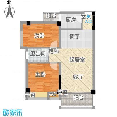 雍晟时代公馆78.60㎡1栋18、27、面积7860m户型