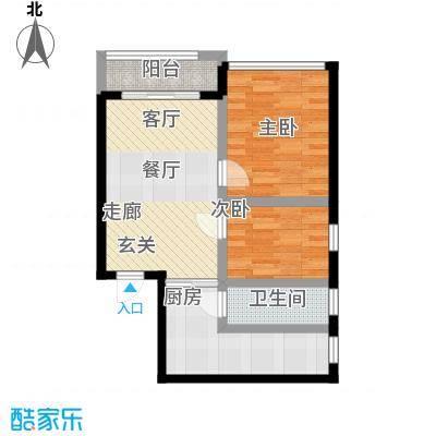 六塘公寓59.00㎡面积5900m户型