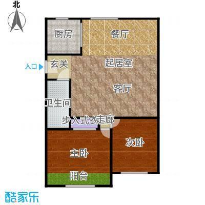 中兴公寓76.00㎡面积7600m户型