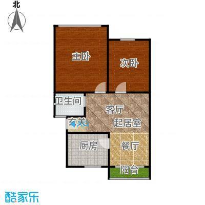 中兴公寓74.00㎡面积7400m户型