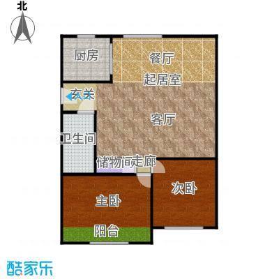 中兴公寓75.00㎡面积7500m户型