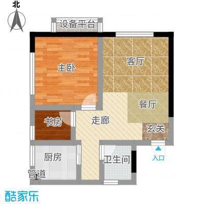 香麓丽舍52.50㎡面积5250m户型